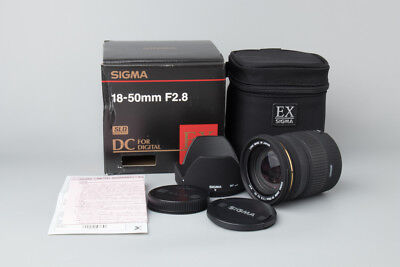 Sigma Zoom 18-50mm f/2.8 f2.8 EX DC Lens for Canon EOS EF Mount DSLR Camera