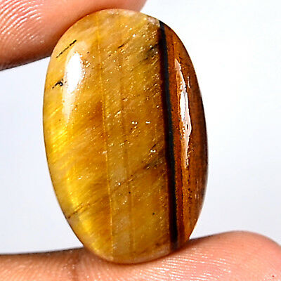 35.60Ct 30x19mm 100% Natural Multi Color Tiger Eye Oval Cabochon Classic Gems