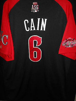 e69db259dc7 italy lorenzo cain signed 2015 all star jersey auth. majestic kansas city  royals rare b02ae