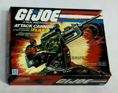 1982 Vintage GI Joe ARAH Flak Cannon Sealed Complete Boxed Insert Stickers Mint