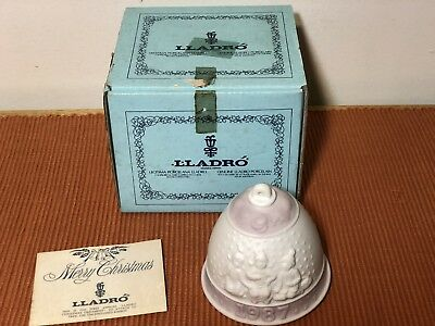 LLADRO Christmas Bell Ornament ~ Vintage 1987 ~ New In Box ~ Paperwork ~ Mint