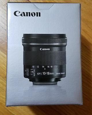 Canon EF-S 10-18mm f/4.5-5.6 IS STM Lens for Canon DSLR Cameras with box