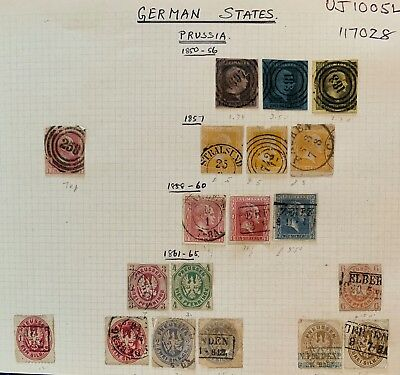 German States Saxony Prussia USED Collection