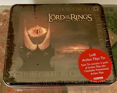Lord of the Rings Action Flipz Tin The Two Towers Flips Complete – NEW SEALED