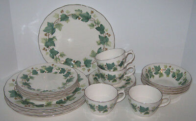 16-Piece Service for 4 Nikko Casual Living Fine Tableware Ivy Plates-Bowls-Cups