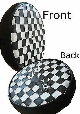 Skaman Check Rear Carrier Scooter Wheel Cover