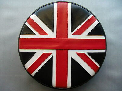 Black/White/Red Union Jack Scooter Wheel Cover