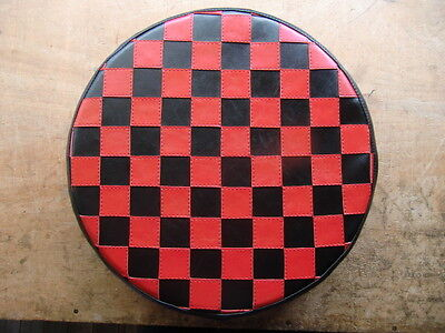 Red & Black Check Scooter Wheel Cover
