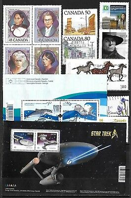 Canada Used Selection Including Two Souvenir Sheets $36.20 SCV