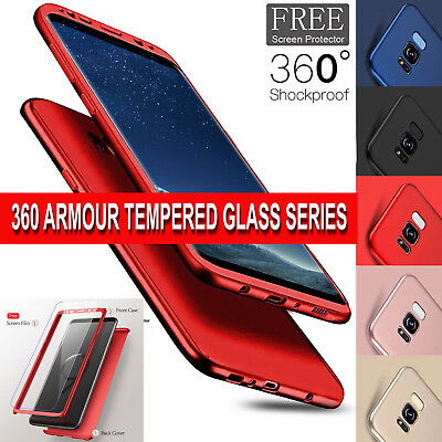 Case for Samsung Galaxy A6 2018 360 Shockproof FULL BODY Case & Screen Protector