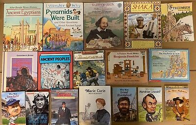 Lot of 24 America US History World Constitution Scholastic Kid Children Book BC4