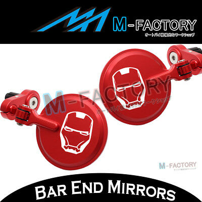 Fit Ducati Panigale 1299 / 959 15-16 Bar Ends Mirrors Red Ironman Logo