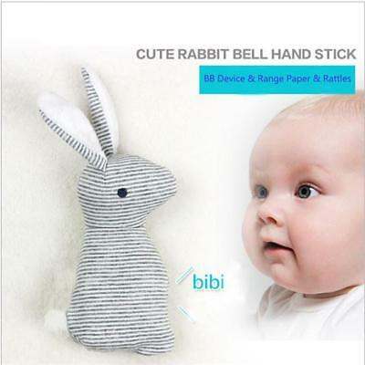 Baby Hand Toy Rattle BB Rabbit Bell Plush Bunny Stuffed Animal Doll WO