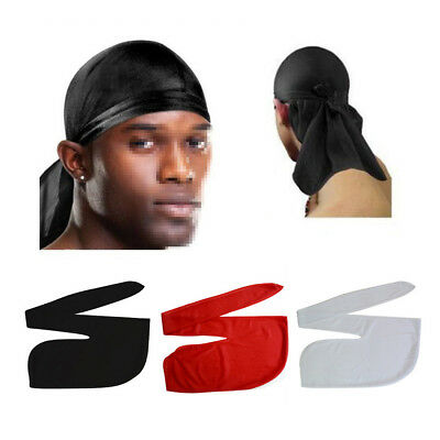 Men's Biker's Cap Bandanna Sports Du-Rag Scarf Head Rap Tie Down Band Headscarfs