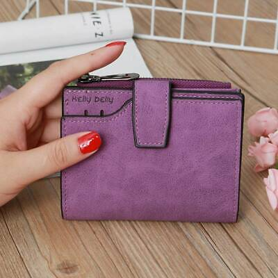 Leather Zip Wallet Women Clutch Card Holder Coin Purse Small Handbag Bag WO