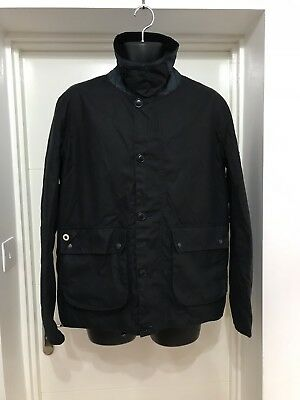 Barbour Deck Waxed Cotton Jacket Size Large