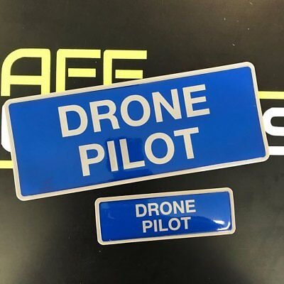 Encapsulated  Reflective DRONE PILOT Badge SET 250mm emergency Rescue