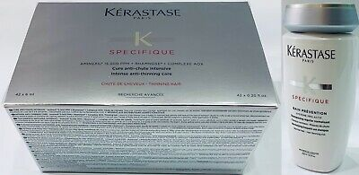 NEW Kerastase Hair Loss Caida 2019 : Force R 42 X 6ML + Bain Prevention 250ML