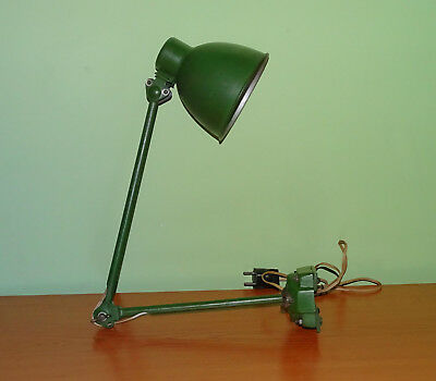 1940-50's Vintage old Arm Industrial Lamp, Worktable Desk Wall Fixture