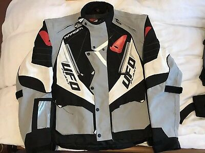 UFO Plast Enduro Jacket Medium Size. Grey/black