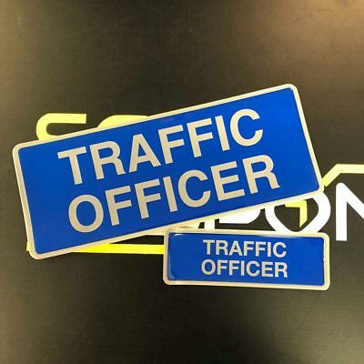 Encapsulated  Reflective TRAFFIC OFFICER Badge SET 250mm Emergency Rescue