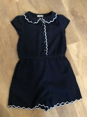 Next Play Suit Navy White Girls Age 7