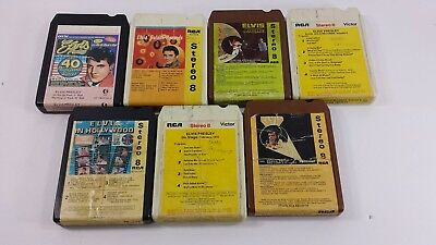 Lot of 7 Elvis 8 Tracks Need to be Restored and Cleaned Selling AS IS