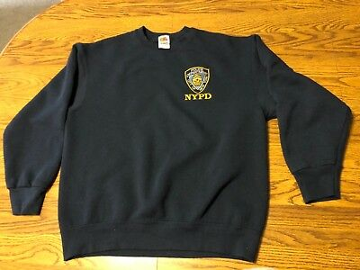 NYPD Police Department City Of New York Sweatshirt Size Men's Large