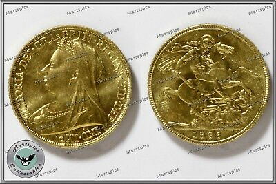 RESTRIKE Queen Victoria 1896 Gold Plated Full Sovereign Coin Copy Collectable