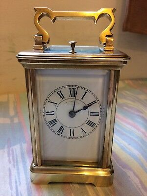 Antique French Repeater Carriage Clock Striking On A Gong C.1900