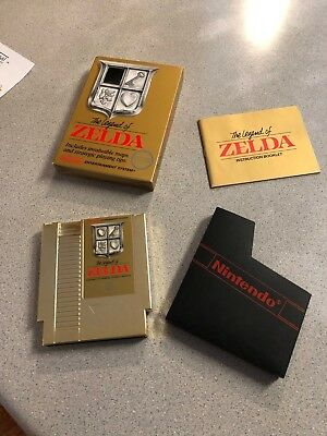 The Legend of Zelda - Original Nintendo NES Gold Cartridge - Free Shipping