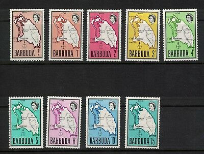Barbuda 1968 Map Values to 15 Cents S G 12-20 Cat £17-65