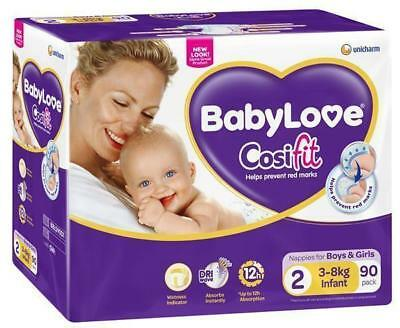 Babylove Cosifit Nappies INFANT 3-8kg - 90 Pack
