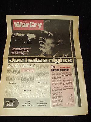 The War Cry:salvation Army Newspaper:6 November 1982:#5545:rare [Pages Missing]!