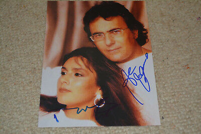 AL BANO & ROMINA POWER sexy signed  Autogramm 15x20 cm  In Person