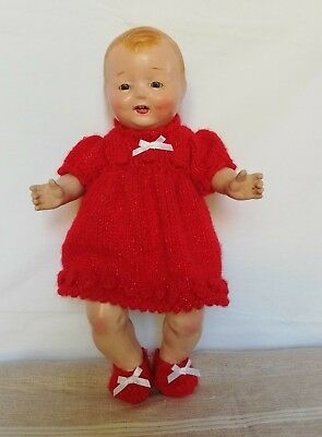 Composition doll American character Chuckles 14inch, working mama, sleep eyes