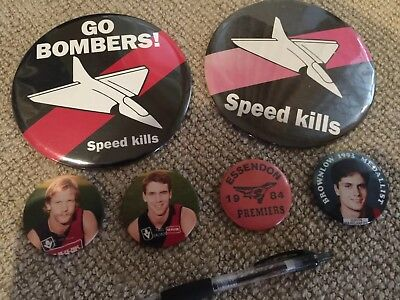 Various VFL/AFL Essendon Badges Circa 1980/90s