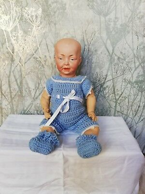 Antique bisque head Kaiser Baby doll 14 inches