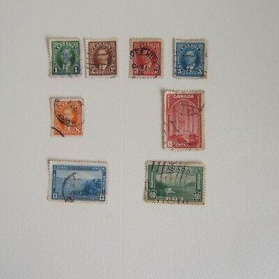 Canada Stamps 1937 George VI Ex Album / Used / Hinged / Space Fillers