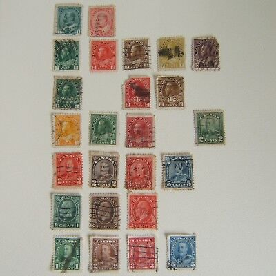 Canada Stamps Pre George VI 1903 - 1935 Ex Album / Used / Hinged / Space Fillers