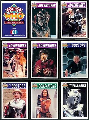 Doctor Who - For Sale Is A Cornerstone 1994 1St Series Set Of Trade Cards