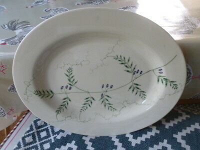 Emma Bridgewater pottery rare large oval olive vetch leaf meat platter 1990`s