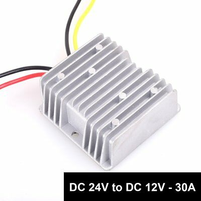 DC 24v to DC 12v Step Down 30A 360W Heavy Duty Truck Car Power Supply Adapter