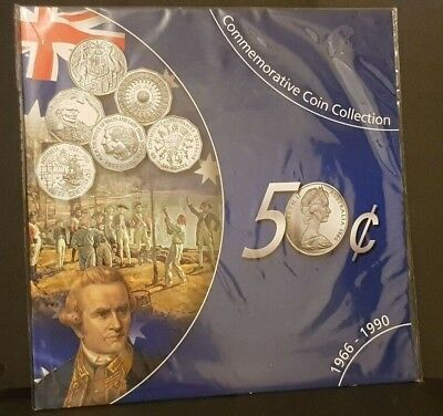 Au - 1966-1990 - Commemorative Fifty Cent Coin Collection