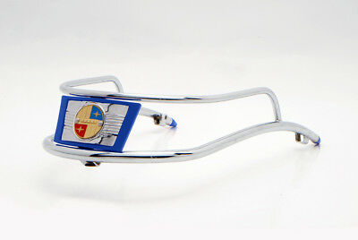 Vigano Chrome Front Mudguard Embellisher Embossed With Blue Vigano Logo