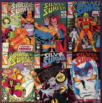 Silver Surfer #44 to #50 infinity gauntlet prelude (Marvel 1990) 7 x KEY issues.
