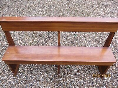 OLD CHURCH PEW / BENCH.Delivery possible. ALSO LONGER PEWS & PINE TABLE.