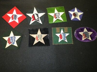 Nice WWI Design US Army 2nd Division Patch Lot (8) - Applied Construction, Wool