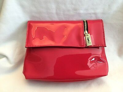 10f1fe21a6b3 YSL Yves Saint Laurent Beaute Pink Patent Makeup Cosmetic Bag Clutch 5 X 7  Pouch
