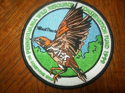 """Pa Pennsylvania Game Fish Commission  Patch 4"""" 1999  Wild Resource Cons Fund"""